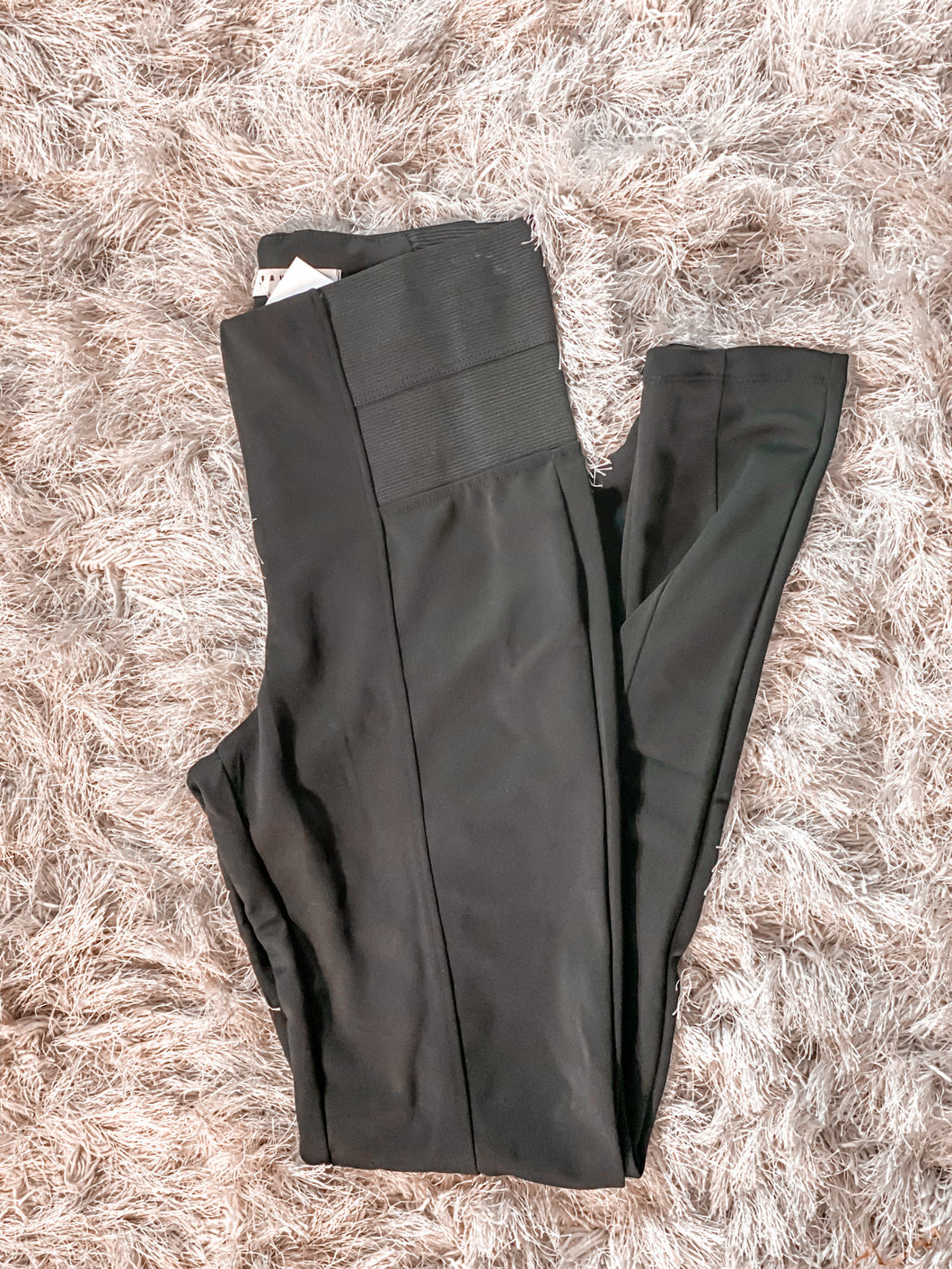 Black Leggings with Elastic Waistband