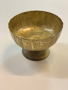 Gold Scalloped Display Bowl