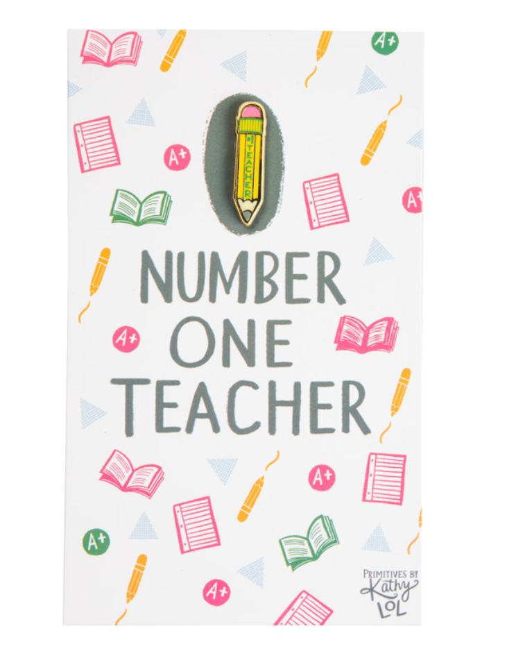 Number One Teacher Pin