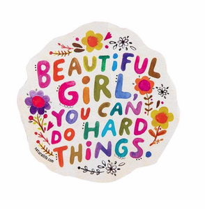 Natural Life Beautiful Girl Sticker