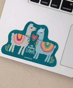 Natural Life No Drama Llama Sticker