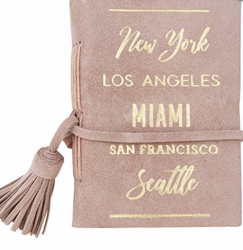 City List Suede Notebook