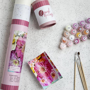 Pink Picasso Paint by Number Kit - Zealous Zinnias