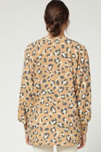 Load image into Gallery viewer, Amaranth V Neck Leopard Sweater