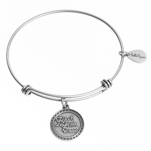 First My Mother Forever My Friend Expandable Bangle Charm Bracelet