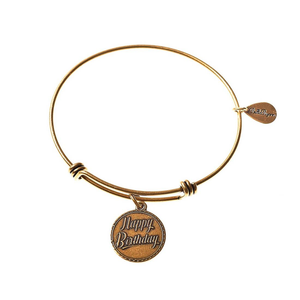 Happy Birthday Expandable Bangle Charm Bracelet