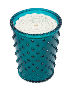 Spanish Lime Hobnail Glass Candle