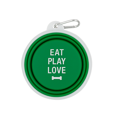 Eat Pray Love Dog Bowl
