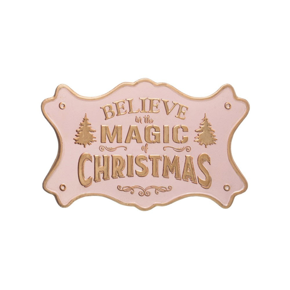 Believe in the Magic of Christmas- Embossed Metal Wall Decor