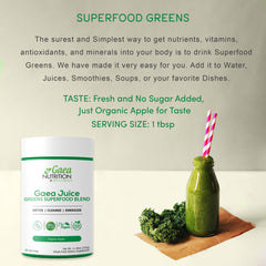 greens superfood powder mix servings