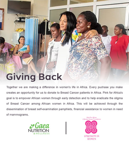Gaea Nutrition & Wellness partners with Pink for Africa