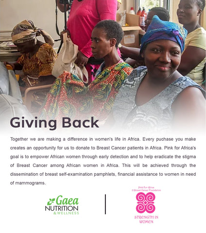 Gaea Nutrition & Wellness Supports Pink for Africa