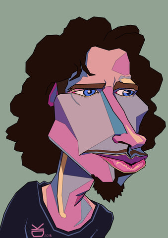 Chris Cornell - framed fine art print