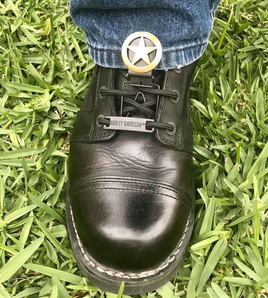 Faärken Boot Lickers come in many of the same concho styles as our biker stirrups. Please click here to choose your style.