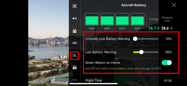 Low battery warning indicators