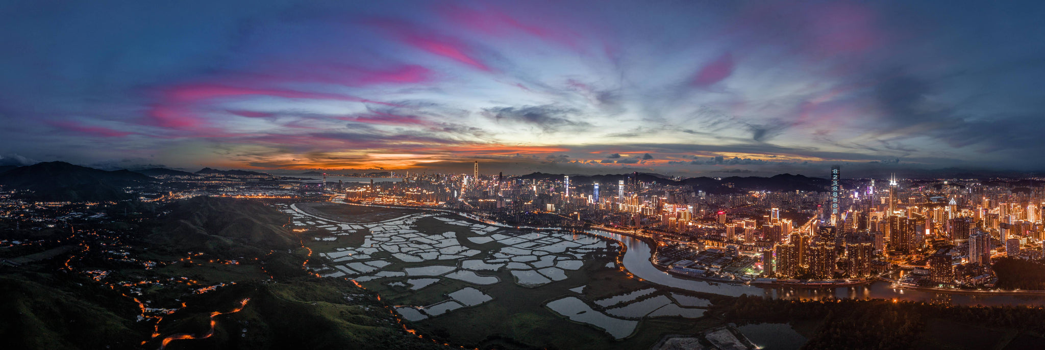 Sunset over Shenzhen by Blair Sugarman - Print