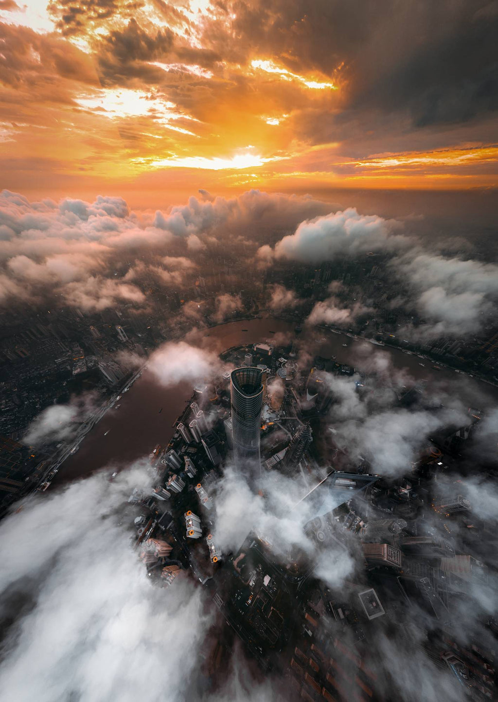 Heaven in the Clouds by John Huang - Print