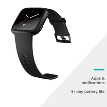 Load image into Gallery viewer, FITBIT ACTIVITY TRACKER VERSA WATCH BLACK ALUMINUM