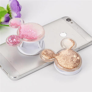 Phone Stand Grip Holders For Mobile Phone Foldable Universal Finger Quicksand mouse Ring socket Holder for
