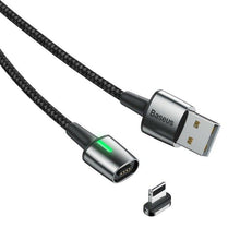 Load image into Gallery viewer, Baseus Zinc Magnetic Cable USB for Lightning CALCX-A05