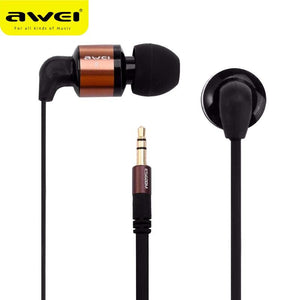 Awei ES600M Earphone Super Bass Wired In-ear Earphone For Smartphone Tablet For mp3 player Computer Portable Media Player