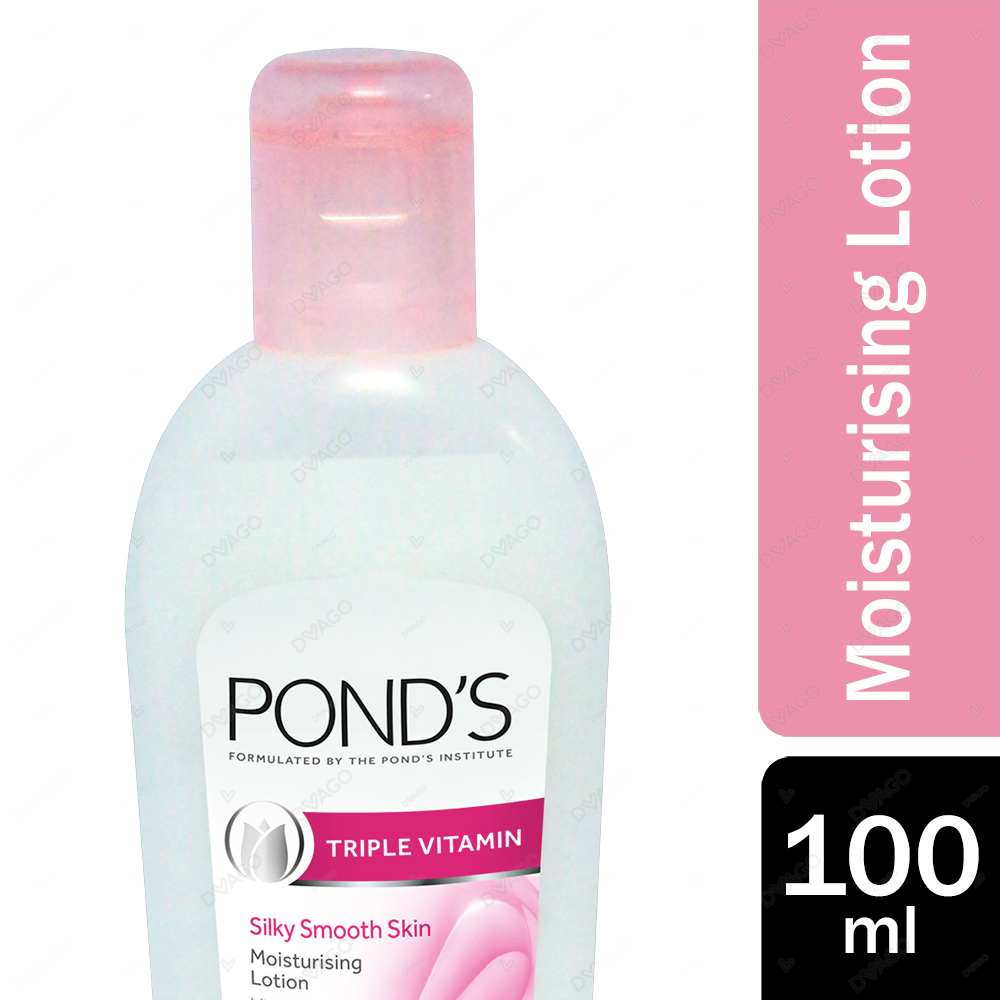 Ponds Triple Vitamin Moisturising Lotion Silky Smooth Skin 100ml