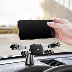 Baseus Horizontal Direct-view Gravity Linkage Automatic Lock Dashboard Car Mount Car Phone Holder SUYL-HP01