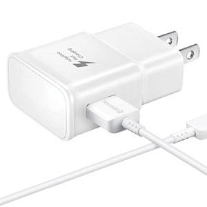 Galaxy S7 Adaptive Fast Charging Wall Charger Kit Set with Micro 2.0 USB Cable, Compatible with Samsung Galaxy S7/S7 Edge/S6/Note5/4 /S3 (White)