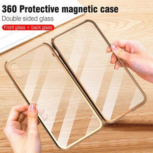 Double-sided Magnetic Absorption Metal Case for iPhone X/XS, iPhone Xs Max & iPhone XI