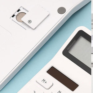 New Xiaomi LEMO Desktop Calculator Photoelectric Dual Dive 12 Number Display Automatic Shutdown For Office Finance Business