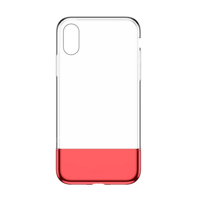 Baseus PC + TPU Hybrid Case for iPhone X/XS Fashion Transparent Silicone Case