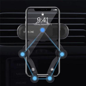 Car Mount Holder Dock, Universal Air Vent Dashboard Car Phone Holder Smaller but more Secure
