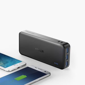 Anker A1273 PowerCore Elite 20000mAh Power Bank with 3 PowerIQ, 6A Output, Dual Input and 4A Fast Recharging