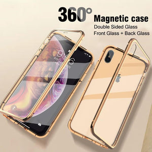 Double-sided Magnetic Absorption Metal Case for iPhone