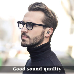 QCY T1 True Wireless Bluetooth 5.0 Headphones in-Ear Earbuds with Microphone Coalblack
