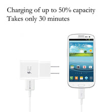 Load image into Gallery viewer, Galaxy S7 Adaptive Fast Charging Wall Charger Kit Set with Micro 2.0 USB Cable, Compatible with Samsung Galaxy S7/S7 Edge/S6/Note5/4 /S3 (White)