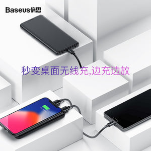 PPALL - EX01 Full Screen Bracket Wireless Charge Power Bank 8000mAh - Black 368724601