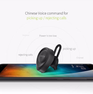 QCY J11 in-ear earphone business wireless mini earbud with microphone car calling handsfree calls