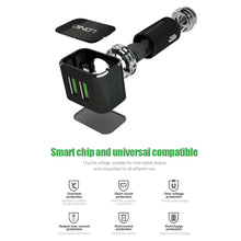Load image into Gallery viewer, LDNIO C306 3.6A Black Color Smart Mobile Phone Car Charger With 2 USB Port Micro USB Cable For Charging Nokia/HTC/Power Pank