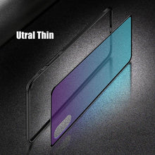 Load image into Gallery viewer, Luxury Tempered Glass Case for iPhone Gradient Aurora Soft Silicone Frame Protective Clear Cover