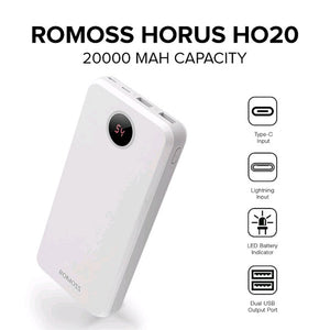 Original ROMOSS Horus HO20 20000mAh Power Bank