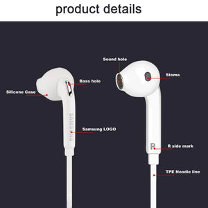 SAMSUNG EO-EG920BW Earphones Wired 3.5mm with Mic 1.2m In-ear Stereo Sport Earphones for Samsung S8 S8Edge with Retail Box