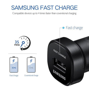 Samsung Fast Car Charger Original Adapter 18W 9V2A 1.2m USB Type C Cable Travel USB
