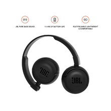 Load image into Gallery viewer, JBL T460BT Extra Bass Wireless On-Ear Headphone (Black)