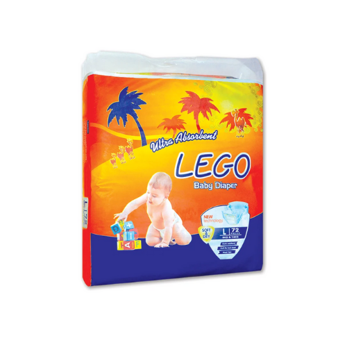 LEGO MEGA PACK LARGE DIAPERS (72 PCS)