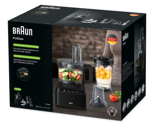 Braun Purease Collection JB3132 Jug Blender 800W with Stainless steel Grinder