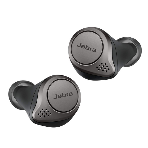 JBL & JABRA ELITE ACTIVE 75T TRUE WIRELESS  EARBUDS (TITANIUM BLACK)