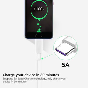 Huawei Supercharge Type-C Cable 5A AP71 Mate 20 Pro P20 Pro P10 Plus Honor V10 Fast Quick Charger Charge USB 3.0 Charging Cable