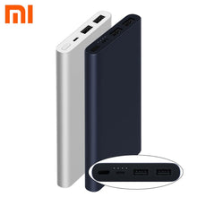 Load image into Gallery viewer, Xiaomi Power Bank Mi 10000 Mah 2i Dual USB Portable Charger Fast Charge 18W External Battery Powerbank for Android and IOS Phone