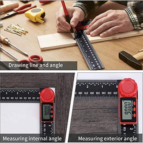 3D Measuring Ruler Digital Angle Finder